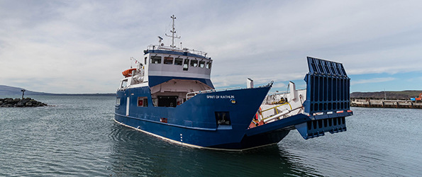 MIT aid Arklow Marine to successfully deliver new replacement ferry for the Co Antrim Coast by supplying Twin Disc gearboxes