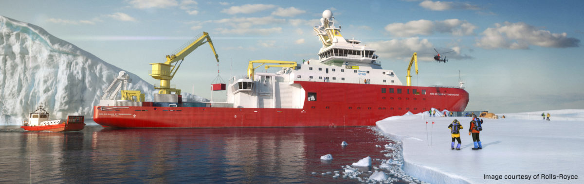 MIT deliver Bespoke Exhaust Suspension System by Rubber Design for Sir David Attenborough Polar Research Vessel